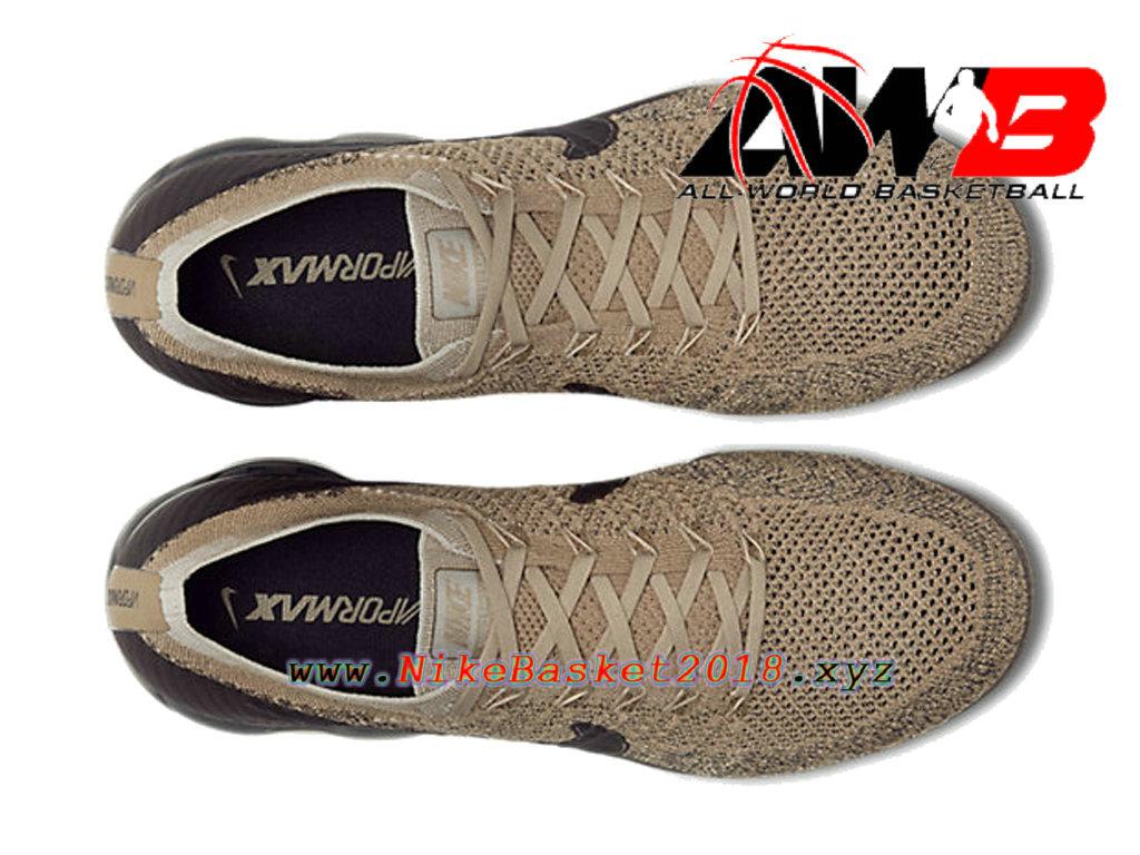 bb2a85f42d7 ... Men´s Nike BasketBall Shoes Nike Air VaporMax Flyknit Brun Black 849558- 201 ...