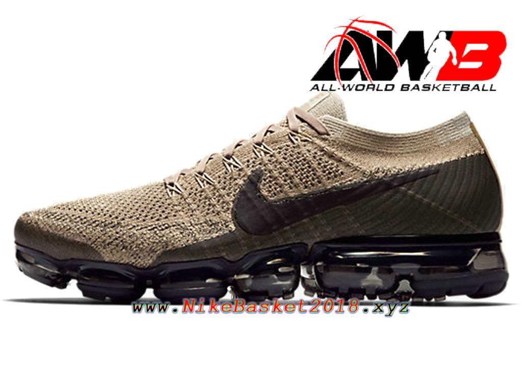 89a60963235 Men´s Nike BasketBall Shoes Nike Air VaporMax Flyknit Brun Black ...