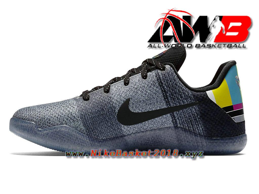 ... Chaussure de BasketBall Pas Cher Pour Homme Nike Kobe 11 Elite TV Noir Gris 822945_002 ...