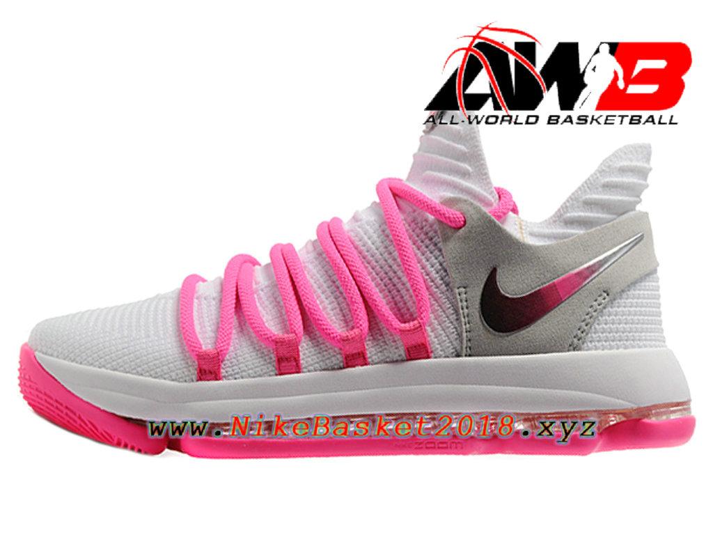 Chaussure De Basketball Pas Cher Pour Homme Nike Blanc Zoom Kd 10 Ep Blanc Nike 5c0473