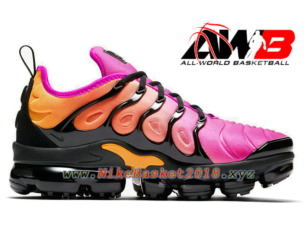 chaussures de basketball pas cher pour femme enfant nike wmns air vapormax plus 2018 rose noir. Black Bedroom Furniture Sets. Home Design Ideas