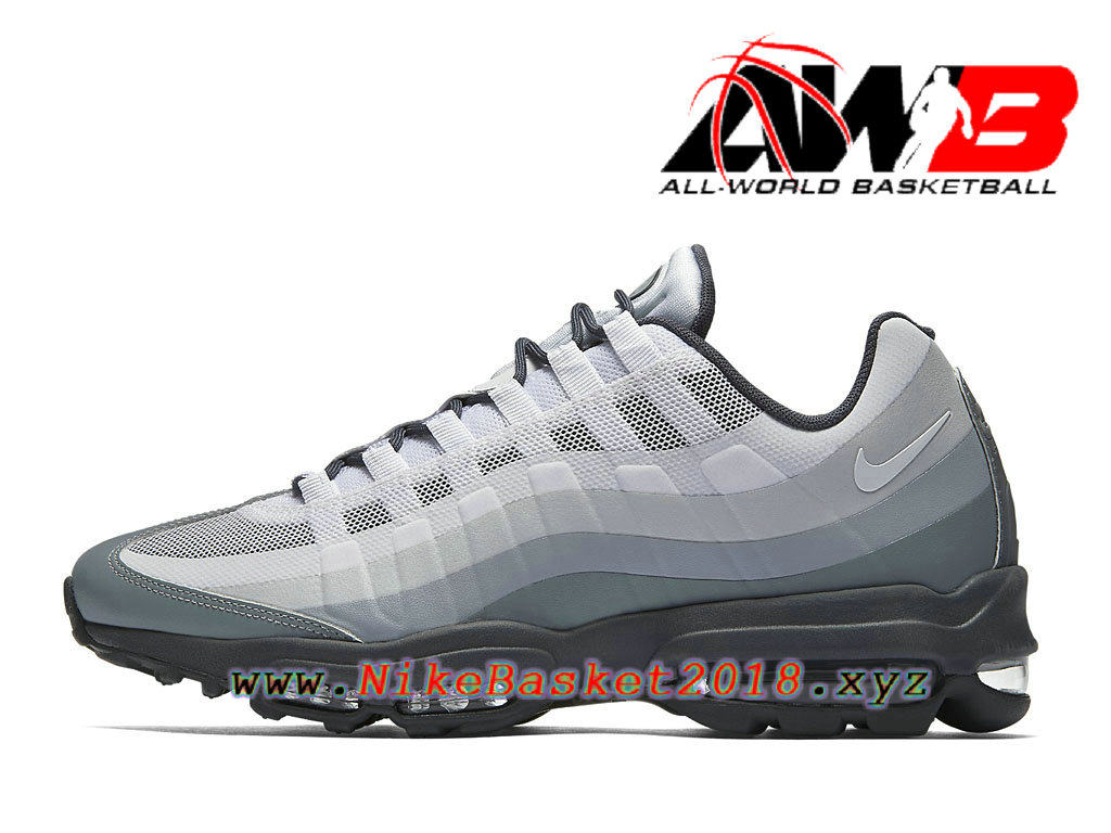 Men´s Nike BasketBall Pas Cher Shoes Nike Air Max 95 Ultra Essential Gery  Black