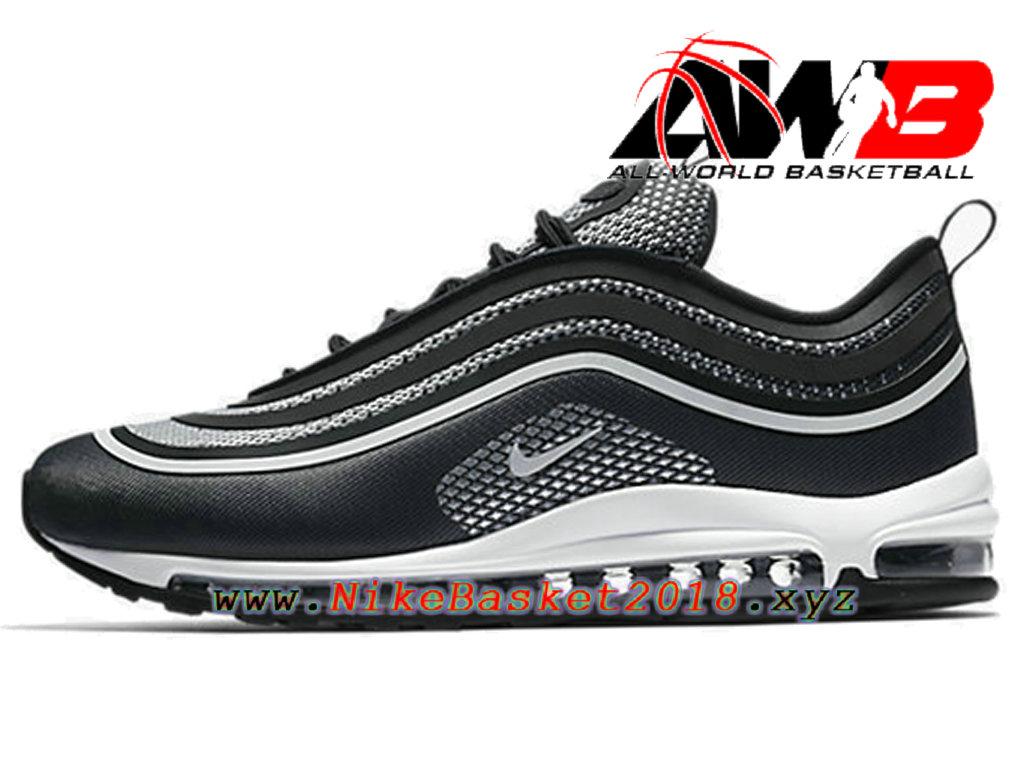 Chaussures de BasketBall Pas Cher Pour Homme Nike Air Max 97 Ultra ´17 Noir  Blanc ...