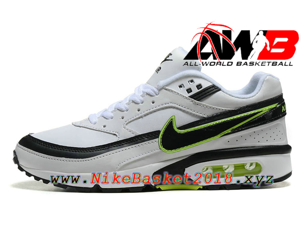 ... Chaussures de BasketBall Pas Cher Pour Homme Nike Air Max BW Blanc Vert 819475_A007 ...