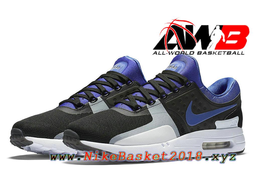 los angeles 69d51 ab8f4 ... cheapest chaussures de basketball pas cher pour homme nike air max zero  blanc noir bleu 789695004 ...