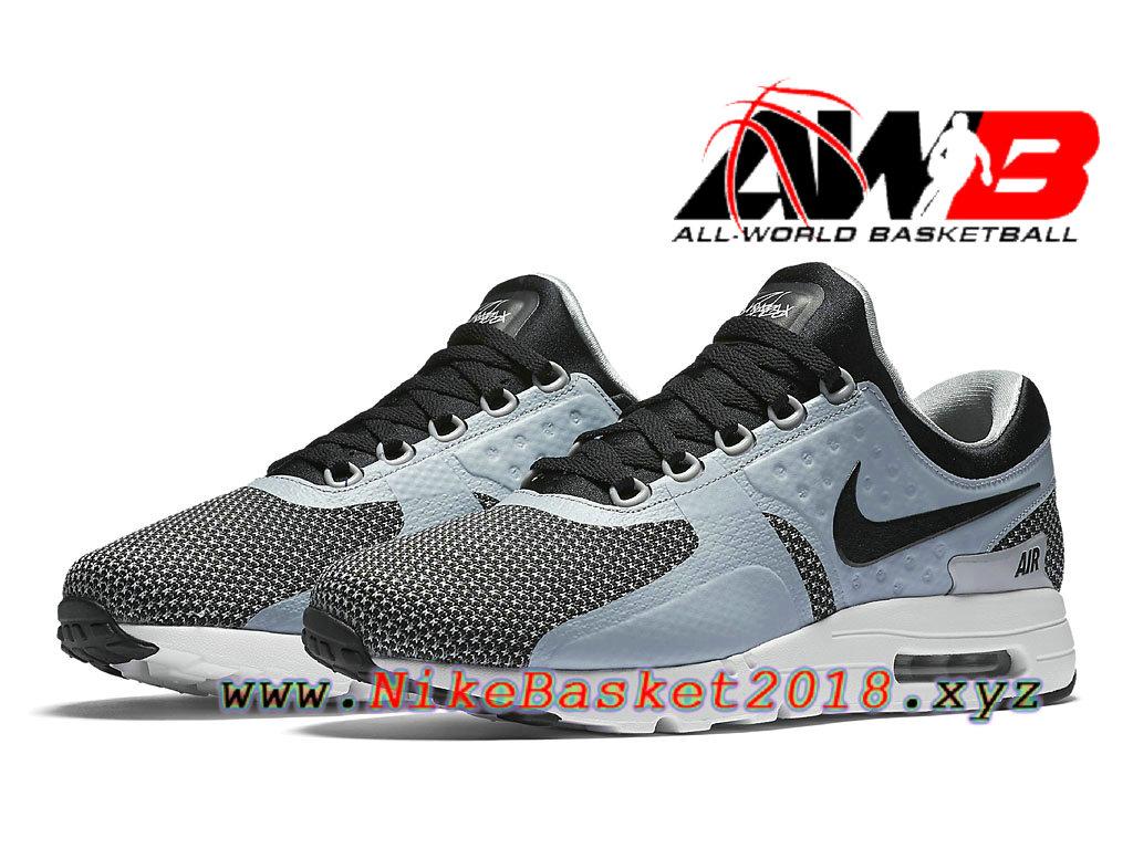 ... Chaussures de BasketBall Pas Cher Pour Homme Nike Air Max Zero Bleu  Noir 876070_002 ...