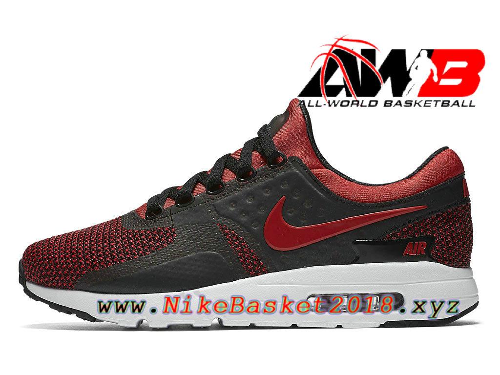 Chaussures De Basketball Pas Cher Pour Homme Nike Air Max Zero Bred