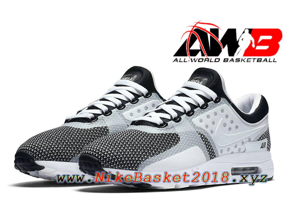 Chaussures De Basketball Pas Cher Pour Homme Nike Air Max Zero Oreo