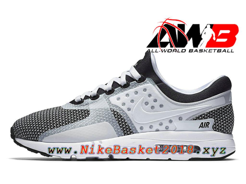 Chaussures de BasketBall Pas Cher Pour Homme Nike Air Max Zero Oreo Blanc Noir 876070_005 ...
