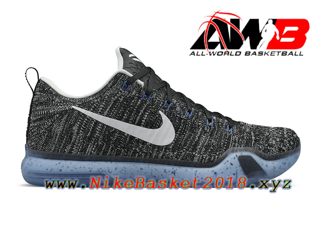 Men´s Nike BasketBall Cheap Shoes Nike Kobe 10 Elite Low PRM HTM Oreo  805937 010 c32cff07f4