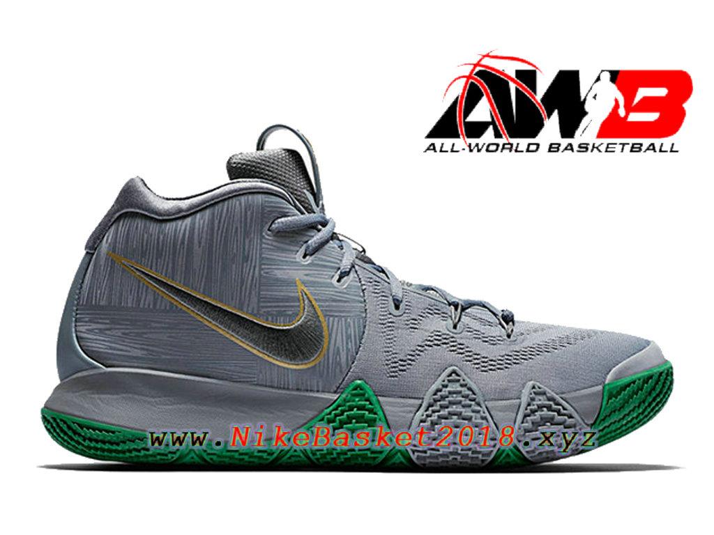 reputable site 9b5e9 99070 Chaussures de BasketBall Pas Cher Pour Homme Nike Kyrie 4 City Edition Gris  Vert 943806-
