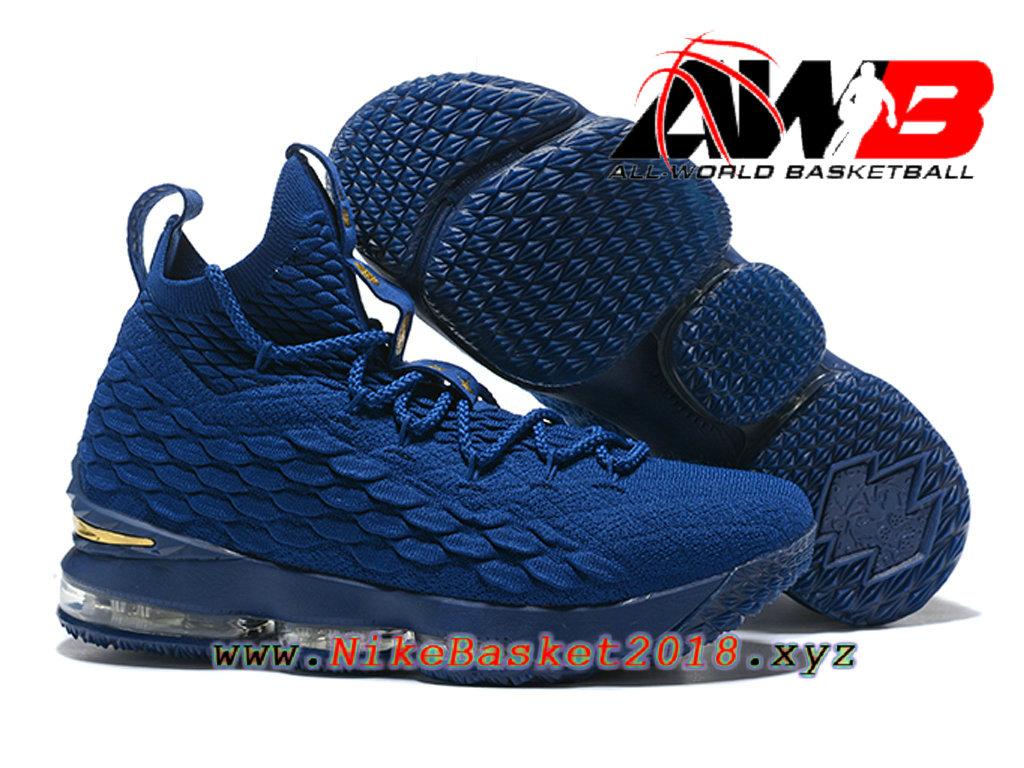 ... Chaussures de BasketBall Pas Cher Pour Homme Nike LeBron 15 Prix Bleu 897648-ID1 ...