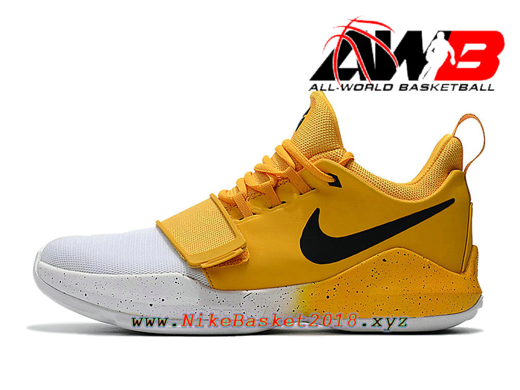 best website 7422c beca2 Men´s Nike BasketBall Shoes Nike PG 1 ID Jaune White 878628 A008 Nike Prix