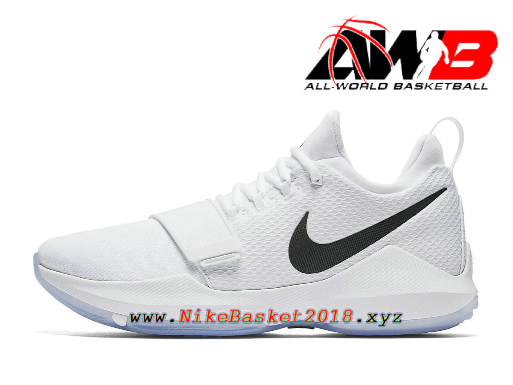 Chaussures de BasketBall Pas Cher Pour Homme Nike PG 1 White Ice