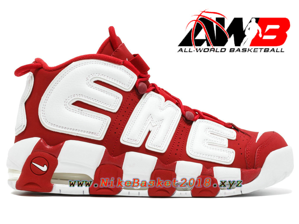 uk availability a9604 b2817 Men´s BasketBall Cheap Shoes Supreme x Nike Air More Uptempo Red 902290-600