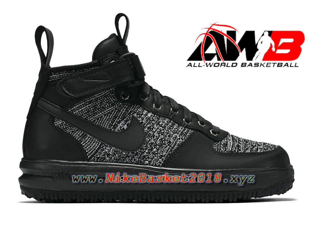 Chaussures et Sneakers LifeStyle Nike Pas Cher Pour Homme Nike Lunar Force 1 Flyknit Workboot Noir ...