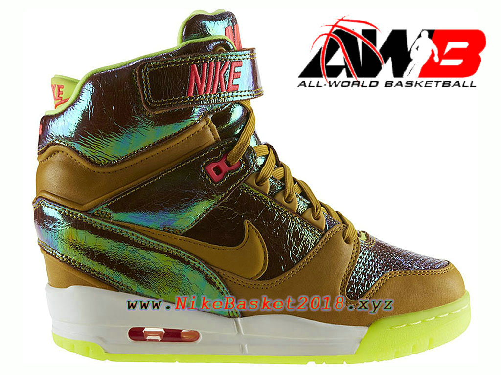 new style 1990b 37e5e Women´s Nike BasketBall Shoes Nike Air Revolution Sky Hi GS Gold 677322-700