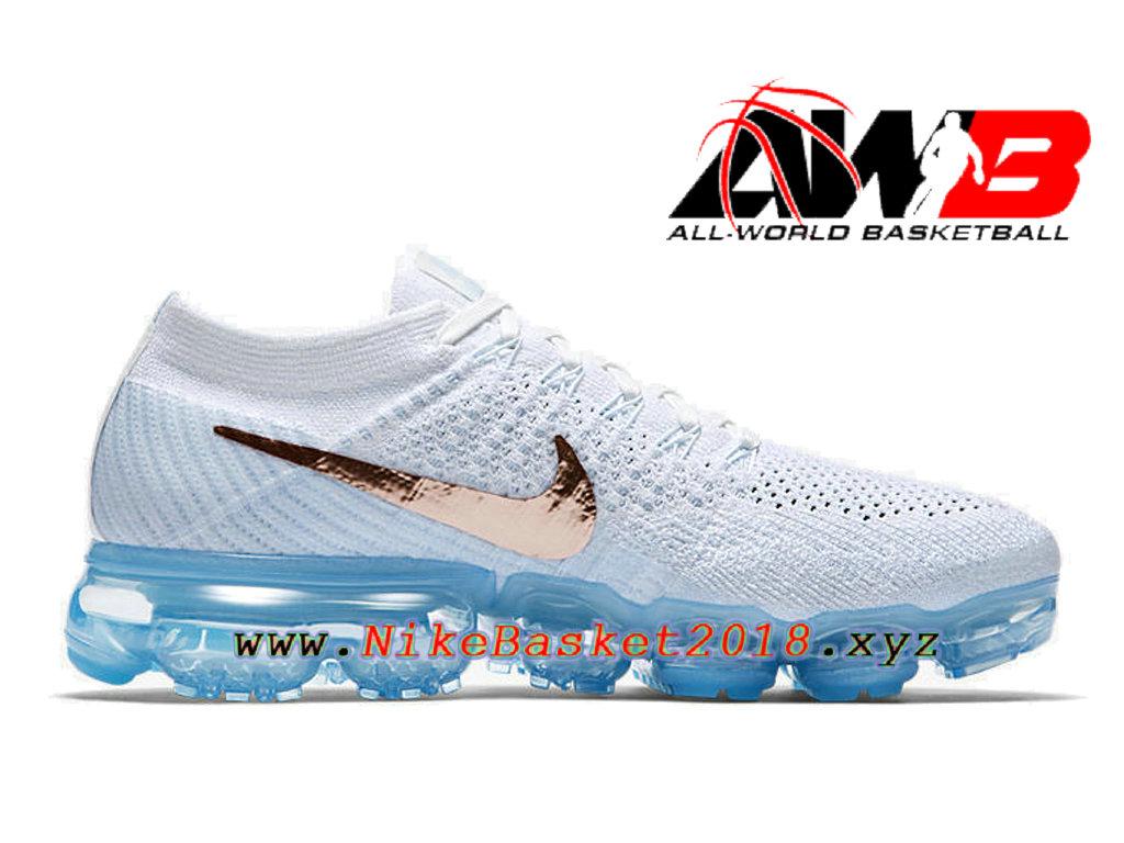 chaussures nike basket pas cher pour femme enfant nike wmns air vapormax blanc or 849557