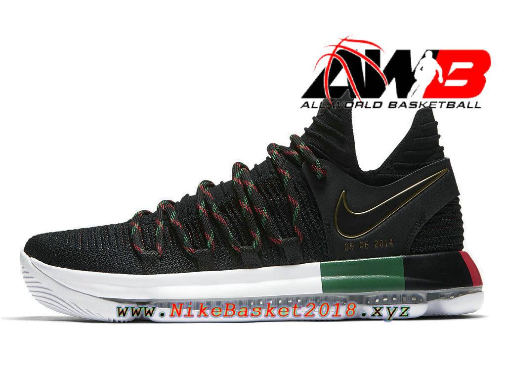 Men´s Nike KD 2018 Shoes Nike Zoom KDX Lmtd BHM Black Green 897817-