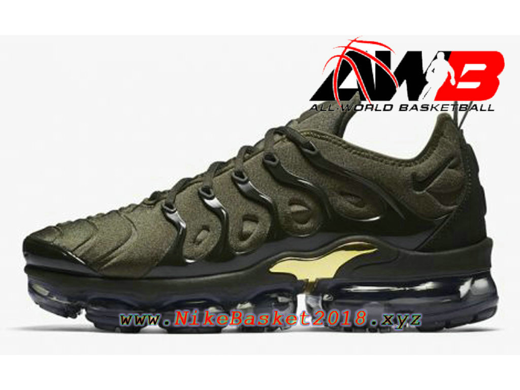 Men´s Nike BasketBall Shoes Nike Air VaporMax Plus 2018 Green Gold  924453-300