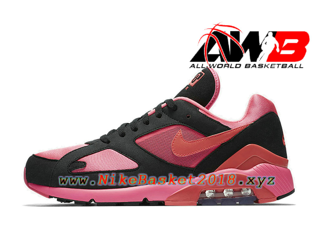 ... Chaussures Nike Running Pas Cher Pour Homme Nike Air Max 180 CDG Rose Noir AO4641- ...