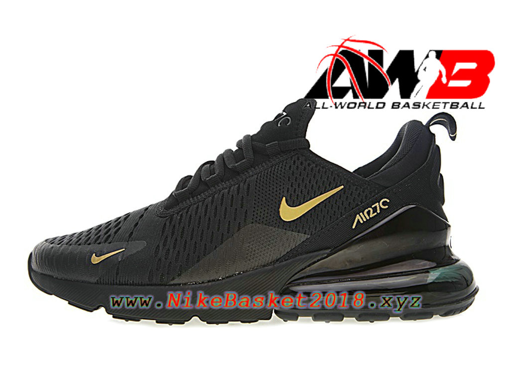 Chaussures Nike Running Pas Cher Pour Homme Nike Air Max 270 Noir Or AH8050-007 ...