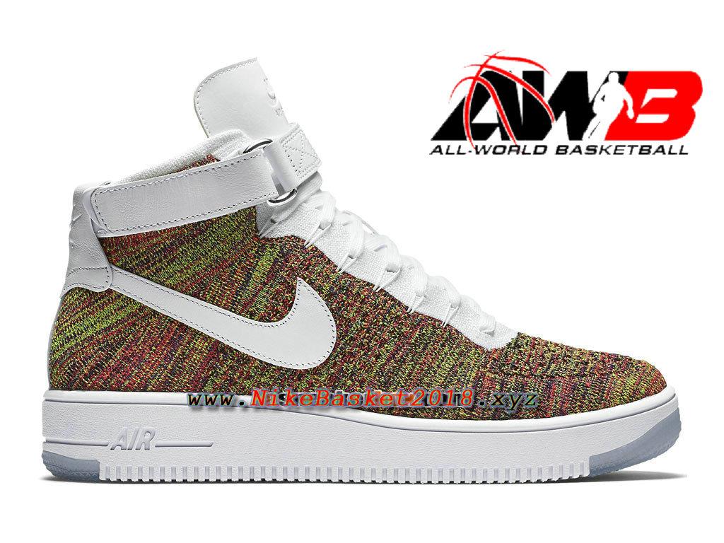 size 40 67b64 1b4f0 Men´s Nike Sportswear Pas Cher Shoes Nike Air Force 1 High Ultra Flyknit  Brun