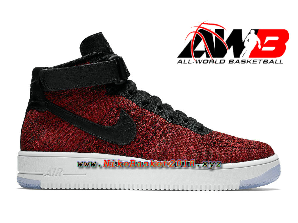 Chaussures Nike Sportswear Pas Cher Pour Homme Nike Air Force 1 High Ultra  Flyknit Rouge Noir ...