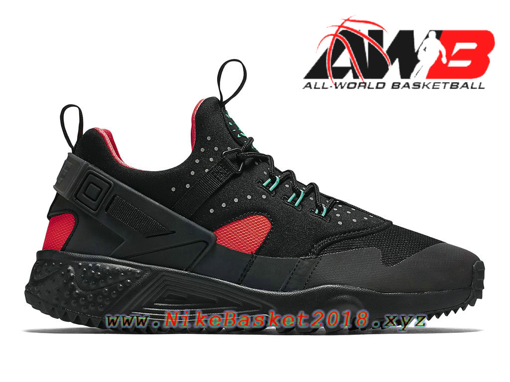 20803ff27acf Men´s Nike Sportswear Shoe Nike Air Huarache Utility Hologram Black-Bright  Crimson 806979