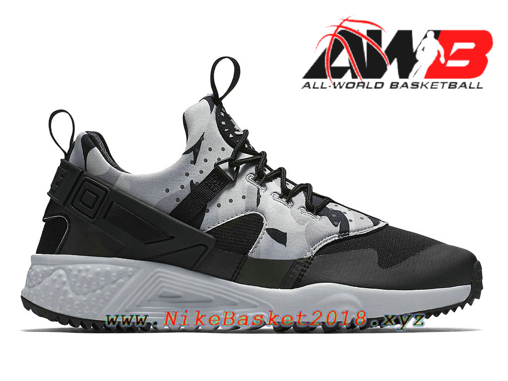 Men´s Nike Sportswear Shoe Nike Air Huarache Utility Pure Platinum  Black-Dark Grey