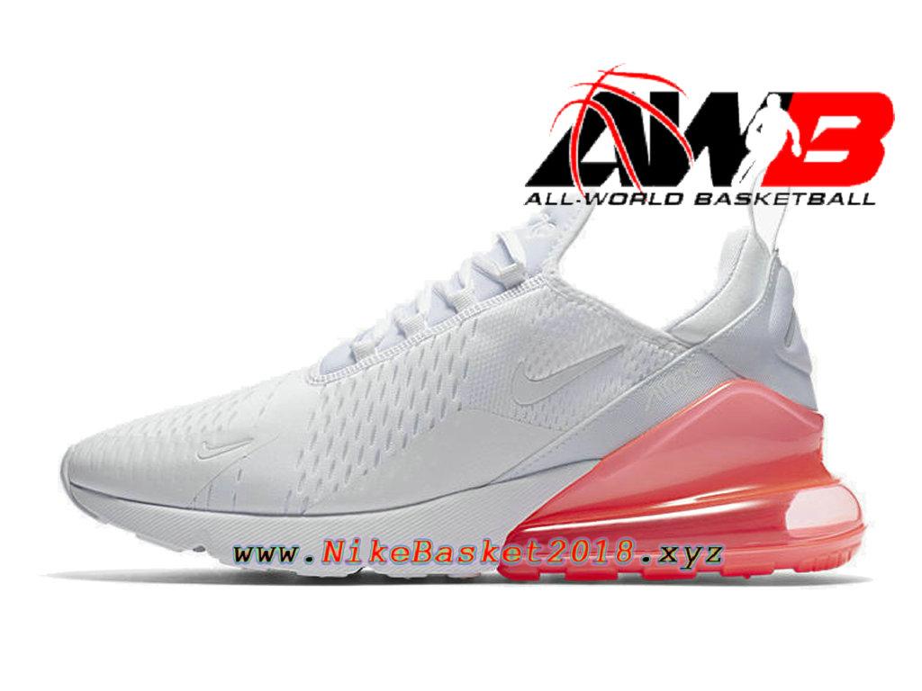 ... Chaussures Officiel 2018 Pas Cher Pour Homme Nike Air Max 270 Blanc Rose AH8050-103 ...