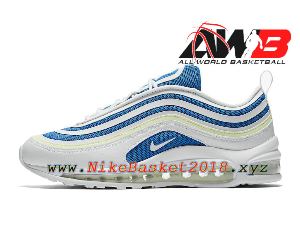 2b3dff3de699 Men´s Officiel 2018 Pas Cher Shoes Nike Air Max 97 Ultra Sprite White Blue