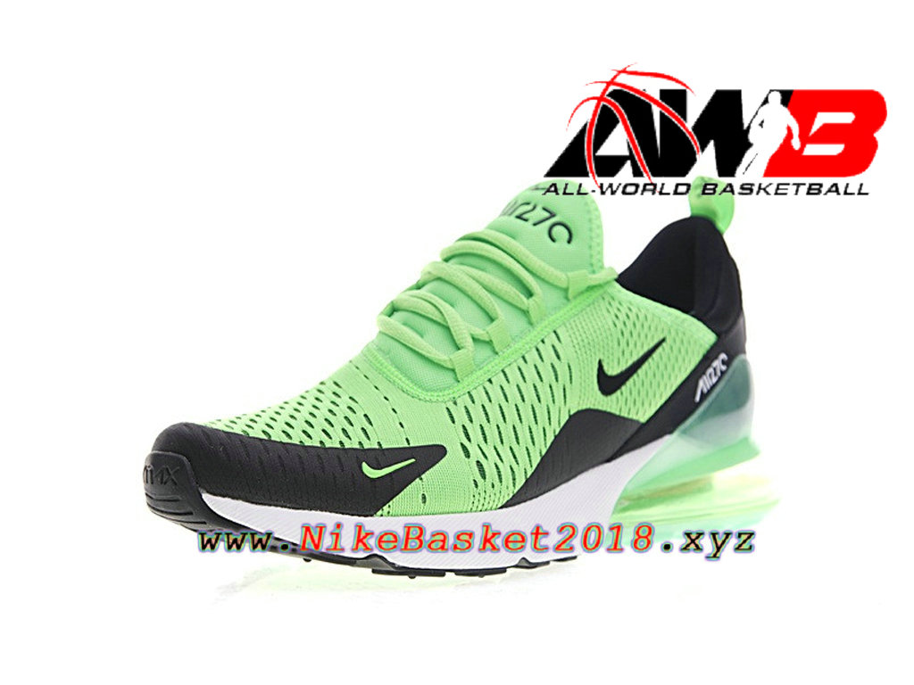 ... Chaussures Officiel Prix Pas Cher Pour Homme Nike Air Max 270 Vert Noir AH8050-301 ...